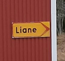 Klassisk skylt hos Liane :)