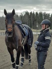 200226 Kul jobb med Camilla Berg och hennes unga hästar idag :)