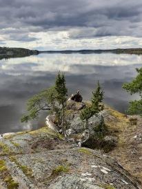 Sjön dunkern helt spegelblank bjöd på en vacker vila. Över 40m djup är den.