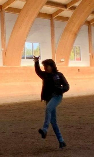 Den 3.5 tog Annelie Larsson dessa bilder på mig när jag hjälpte hennes Ida :) Ha Ha kroppsspråket är ju tydligt iaf :)