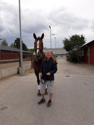 200630 Rosse med groomen Nina på Ågesta.