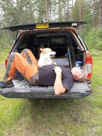 200830 De som är mest skogsvana blev tröttast ! Ha Ha Ha !