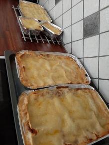 Lasagne färdig för avfärd till Norrland med Lars. Blev några matlådor till mig oxå.