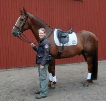 200913 Nina groomade på Djursholm idag .