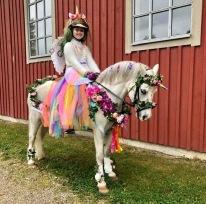 Hur fina är de inte !! Ella Nordqvist på Salsats Mr Dynamite som sagofigurer. MASKERAD KM GULD på ponny.