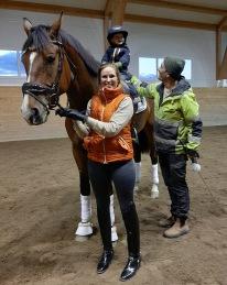 Delecto går ena helgen FINAL i Flyinge med Erika Lindström Asp för att sedan vara familjehäst !