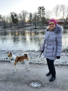Julaftonspromenad med Mamma och hundarna :)