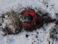 210105 Första tappskon på evigheter hittas lätt pga röd sula :).