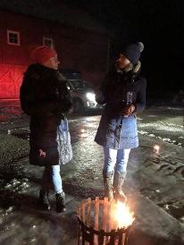 Mia och Lili i samspråk, tack Lili för all hjälp med marshaller mm :)