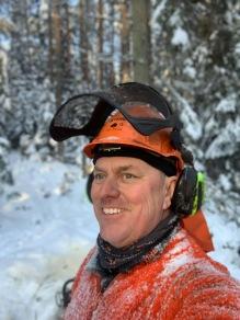 Fina Lars :) i snöig jobbardress.