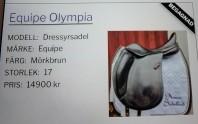Till Salu ! Min sadel Equipe Olympia finns hos Sadeldoktorn :)