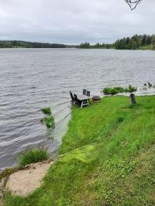 210527 Efter EN natt har sjön ökat rejält.