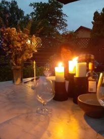 Vi satt ute till långt in på natten i den varma sommarkvällen. Tusen tack för en superhärlig midsommar :)