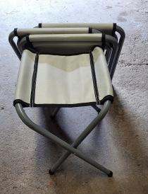 Nr 40.) 4st låga ihopfällbara stolar 100:-