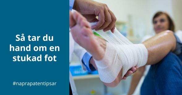Naprapatkliniken i Piteå tipsar: Så tar du hand om en stukad fot