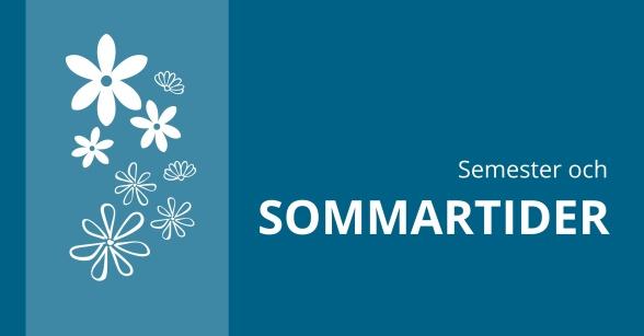 Semester och sommartider hos Naprapatkliniken i Piteå