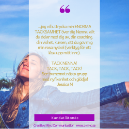 Nenna Zetterström Creative Mind Communication föreläsningar & kurser coaching, mental träning, hypnoterapi, ledarskapsutveckling, lokalt, digitalt och globalt