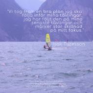 """Kundreferens: """"Vi tog fram en bra plan jag ska följa inför mina tävlingar. Jag har följt den på mina senaste tävlingar och märker stor skillnad på mitt fokus."""" Isak Turesson   - mental träning Nenna Zetterström"""