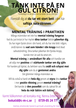 Mental träning - Creative Mind Communication och Nenna Zetterström