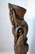 Antik träfigur. Höjd 60 cm