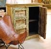Skänk med antika dörrar. H120cm