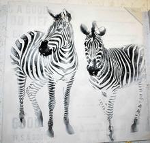 Tavla med två zebror 77 x 77cm