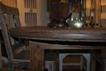 Teakbord av gammalt hjul
