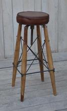 2-pack barpall med skinnsits