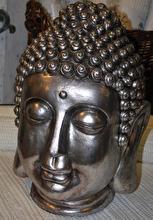 Buddha ansikte silver