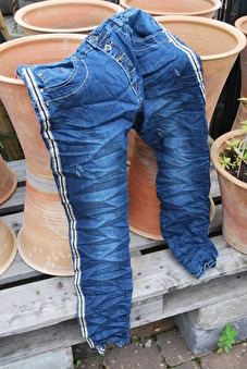 Stretch jeans med revär