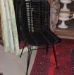 Rottingstol på metallram