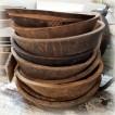 Handgjorda gamla träskålar