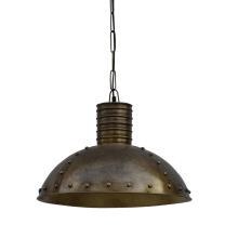 Guldig lampa i butik v 10