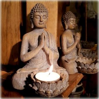 Buddha för värmeljus