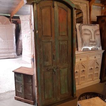 Vintage dörr med karm