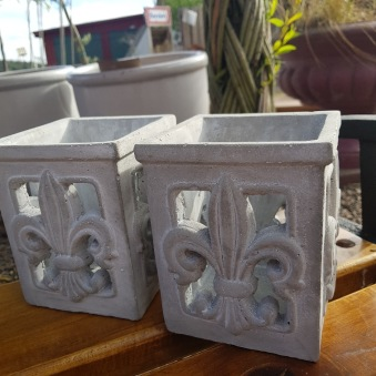 Vacker cementlykta 2-pack
