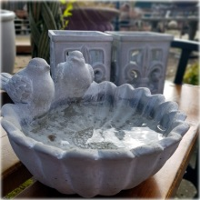 Vackraste fågelbadet i cement