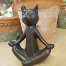 Gjutjärnskatt yoga