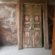Antik indisk pardörr