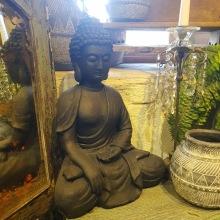 Buddha svart matt.