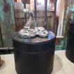 Ormburk guld eller silver - Ormburk 22 cm silver/svart