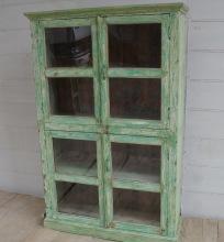 Vintage vitrin, 4dörrars