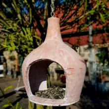 Fågelmatare terracotta