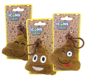 1475 Plush Poop Clip on -