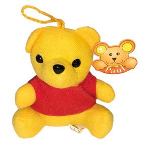 1251 Nalle gul med röd tröja - Nalle gul med  röd tröja