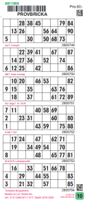 SE-Bingokupong, Finns med: 1, 6, 8, 10 eller 12 blad  (pris gäller 1 - 5 kart) - SE-Bingokupong 1 blad