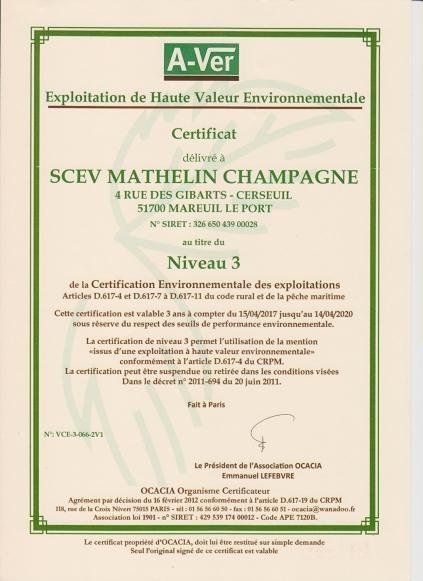 Certifikat HVE3.