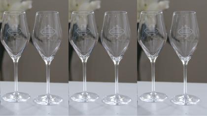 Som medlem får du sex champagneglas från Champagne Mathelin.