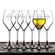 Konstfoto med champagneglas
