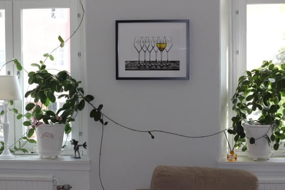CHAMPAGNE POUR LES YEUX (utskrift på akvarellpapper, format: 40 x 30 cm)